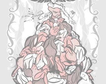 Original Screen Print  - The Rabbit Dress