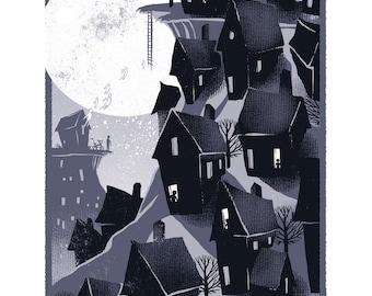 The Bluffs - Screenprinted Art Print