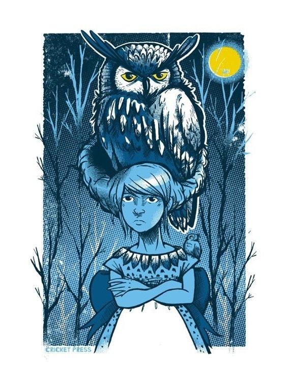 Owl Girl Mini Art Print