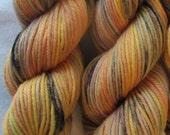 Sunset Whatnot Sport Yarn Hand Dyed Superwash Merino Wool