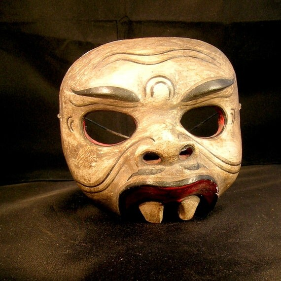 Vintage Wooden Ethnic Mask