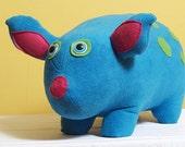 Aqua Blue Piggie