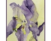 Enter BLACKFRIDAYSALE for coupon code and save12%-8 Watercolor Iris Flower Notecards Note cards