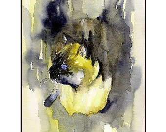 Watercolor Siamese Cat Notecards Note cards, Siamese Cat Art, Siamese Cat Prints, Boxed Set