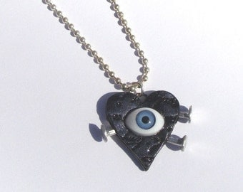 Blue Evil Eye Necklace Includes Chain