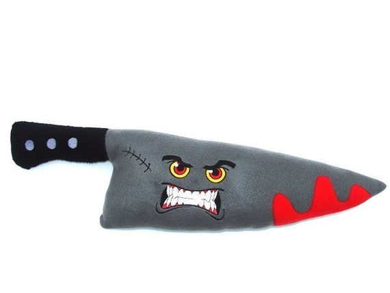 Toys For Knives : Maxwell the angry knife fleece plush toy or pillow by