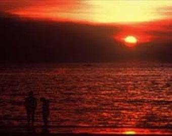 Sunset Darwin Beach Australia