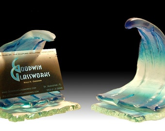 Glass Wave Sculpture Small Size One-Of-A-Kind