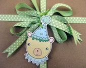 Festive Bear Gift Tags - Set of 6