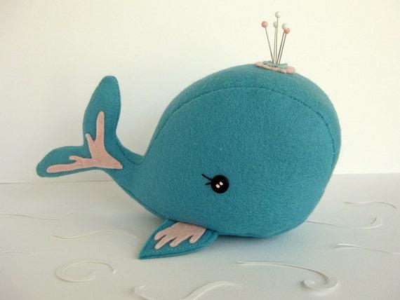 Blue Whale Pincushion