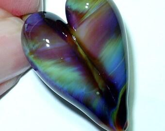 Multi Colored Lampwork Heart Pendant II