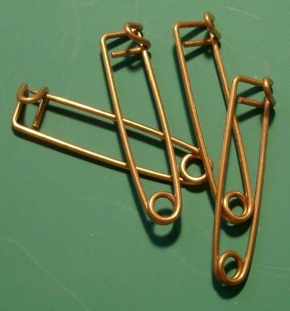 Vintage Brass Safety Pins