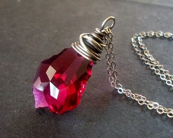 Fuchsia Forever- Necklace