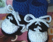 Boutique Crochet Saddle Oxfords Shoes Baby Booties
