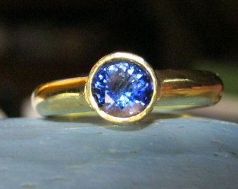 Blue sapphire engagement ring gold wedding ring - Princess Bride Kate
