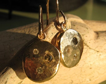 Recycled Gold - Yellow Gold Earrings - Diamond Jubilee