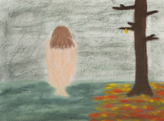 All hope is lost pastel painting