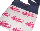 SALE InReverse bag - Echino Cars versus Vintage Planes