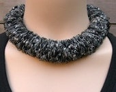 Necklace, choker, soft fiber silky, New Trend (W-KET-038), women accessory, unique elegant necklace, fiber jewelry, jewelry for her