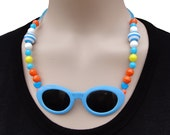 Necklace, summer beach fun funky, last one (W-KET-057)