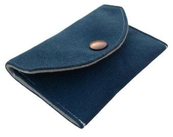 Card Wallet (W-WAL-021), card holder, men accessory, women accessory, blue card wallet, for him, for her