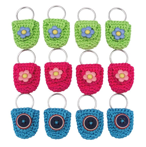 Keychain Coin Holders, set of 12, party favors, stocking stuffers, stocking fillers, women men kids accessory