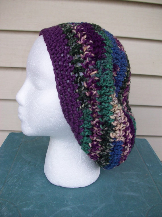Slightly Slouchy and Very Fun Crochet SLOUCH Hat in Songbird