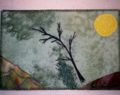 Fabric Postcard - Sun Rising over the Mountains