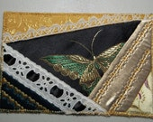Fabric Postcard - Gold/Black Butterfly