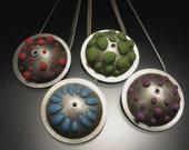 Custom Bumpy Polymer Clay Pendant for ShopperSuz
