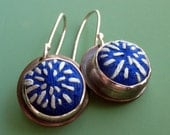 Hand Embroidered Silk Earrings