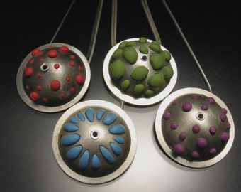 Bumpy Polymer Clay Pendant