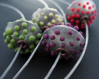 SALE Bumpy Bead Pendant