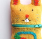 Custom Made Bunny Rabbit Cell Phone Cozy with Carrot For YOU