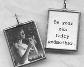 Be Your Own FAIRY GODMOTHER Art Glass Pendant
