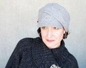 Grey newsboy hat Womens soft beret Wool fisherman cap Womens hats trendy Winter fashion Sewn fabric hat, Modern millinery : Fine & Dandy