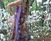 Forming crystals hemp and cotton summer sun dress