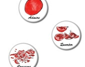 How to Eat a Pomegranate Pinback Buttons