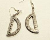 Protractor dangle earrings