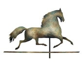 horse weathervane greeting card