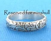 Reserved for minshull--patterned ring