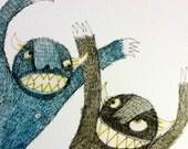 A4 PRINT    Arrg Monster