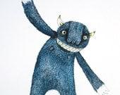 A4 PRINT Ta Da Monster