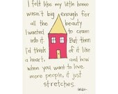 little home 8 x 10 print