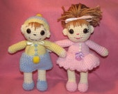 Crocheted Doll Megan and Michael
