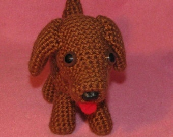 Crocheted Amigurumi Baby Dachshund