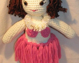 Crocheted Leilani Hawaiian Doll