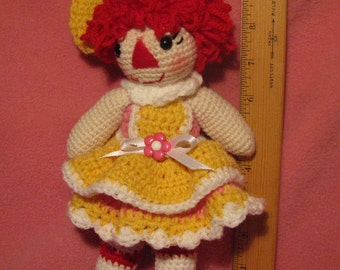 Crocheted Baby Rag Doll Anne