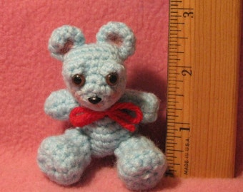 Crocheted Tiny Micro Bear