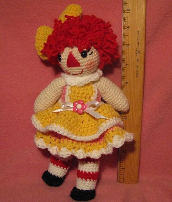 Crocheted Baby Rag Doll Anne